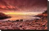 Sunrise, Monument Cove Stretched Canvas Print by Michael Hudson