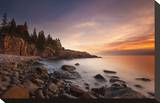Daybreak, Monument Cove Stretched Canvas Print by Michael Hudson