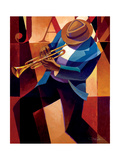 Swing Metalltrykk av Keith Mallett
