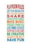 Playroom Rules Kunstdrucke von Erin Deranja