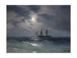 Brig Mercury Giclée-tryk af Ivan Konstantinovich Aivazovsky