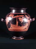 Ship of Odysseus (Ulysse), King of Ithaca Fotografisk tryk