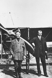 Louis Bleriot 1872-1936, French Aviator and the French Air Ace Adolphe Pegoud Photographic Print