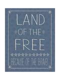 Blue Land of the Free Plakat af Jo Moulton