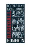 Baseball Print by Erin Deranja