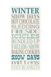 Winter Poster van Erin Deranja
