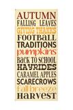 Autumn Harvest Poster van Erin Deranja
