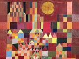 Linna ja aurinko Giclée-vedos tekijänä Paul Klee
