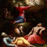 Die Todesangst im Garten Gethsemane (Radierung) Fotografie-Druck von Giorgio Vasari