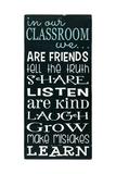 In Our Classroom Poster von Erin Deranja