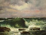La vague Reproduction photographique par Gustave Courbet