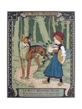 Litttle Red Riding Hood, 19th Century Gicléedruk