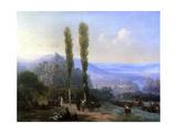 View of Tiflis, 1869 Giclée-tryk af Ivan Konstantinovich Aivazovsky