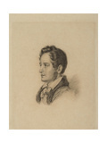 Portrait of the Author Alexander Herzen (1812-187), Ca 1836 Giclée-Druck von Alexander Lavrentievich Vitberg