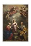 The Heavenly and Earthly Trinities (The Pedroso Murill), C. 1680 Giclée-Druck von Bartolomé Estebàn Murillo