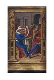 Pilate Washes His Hands (From Lettres Bâtarde), Ca 1490-1510 Gicléetryck av Jean Poyet