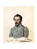 Portrait of Decembrist Count Sergey Volkonsky (1788-186), 1837 Giclee Print by Nikolai Alexandrovich Bestuzhev