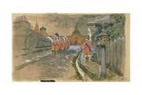 Strelets Patrol at the Ilyinsky Gates in Old Moscow, 1897 Giclee Print by Andrei Petrovich Ryabushkin