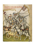 Hussite War (From: the Life and Times of the Emperor Sigismund by Eberhard Windec), C. 1450 Giclee Print by Diebold Lauber
