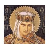 Saint Olga, Princess of Kiev, Second Half of the 19th C Giclée-Druck von Nikolai Alexandrovich Bruni