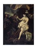 Susanna and the Elders Giclée-tryk af Francesco Albani