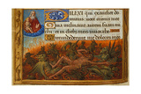 Book of Hours, Detail: Dives Tormented by Demons and Watched by the Soul of Lazarus, C. 1500 Gicléetryck av Jean Poyet