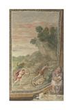 Apollo Killing the Cyclops (Fresco from Villa Aldobrandin), 1617-1618 Giclée-tryk af  Domenichino