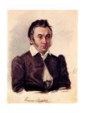 Portrait of the Decembrist Nikita Muravyov (1797-184), 1836 Giclee Print by Nikolai Alexandrovich Bestuzhev