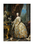 Portrait of Marie Leszczynska, Queen of France (1703-176), 1747 Giclee Print by Carle van Loo