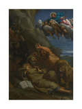 Christ Appearing to Saint Anthony Abbot During His Temptation, C. 1598 Giclée-tryk af Annibale Carracci