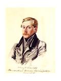 Portrait of Decembrist Pyotr Belyaev (1804-186), 1832-1833 Giclee Print by Nikolai Alexandrovich Bestuzhev