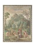 The Judgement of Midas (Fresco from Villa Aldobrandin), 1617-1618 Lámina giclée por  Domenichino