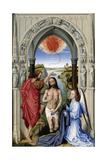 The Baptism of Christ (The Altar of St. John, Middle Pane), Ca 1455 Giclée-tryk af Rogier van der Weyden