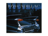 Poster Advertising a Cadillac, 1959 Reproduction procédé giclée