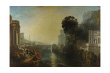 Dido Building Carthage (The Rise of the Carthaginian Empire), 1815 Giclée-tryk af J. M. W. Turner