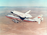Space Shuttle Orbiter Mounted on Top of a Boeing 747 Carrier Aircraft, 1977 Photographic Print