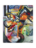 Colored Composition (Hommage À Bac), 1912 Giclee Print by August Macke