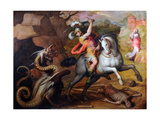 Saint George and the Dragon, C. 1560 Giclée-Druck von Giorgio Vasari