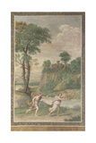 Apollo Pursuing Daphne (Fresco from Villa Aldobrandin), 1617-1618 Giclée-tryk af  Domenichino