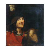 Peasant with a Sheep Giclée-tryk af Dosso Dossi