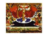 The Coronation of the Virgin, 1454 Giclee-trykk av Enguerrand Quarton
