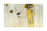 The Beethoven Frieze, Detail: Knight in Shining Armor, 1902 Giclée-Druck von Gustav Klimt