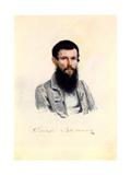 Portrait of Decembrist Dmitry Zavalishin (1804-189), 1839 Giclee Print by Nikolai Alexandrovich Bestuzhev