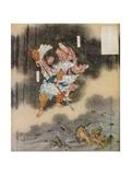 Izanagi and Izanami Giving Birth to Japan, 1925 Giclee Print by Kawanabe Kyosai