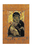 The Virgin of Vladimir, Byzantine Icon, Early 12th Century Impressão giclée