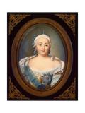 Portrait of Empress Elisabeth Petrovna (1709-176) Giclée-Druck von Jean-Henri Benner