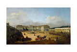 Schönbrunn Palace Viewed from the Front Side, Between 1758 and 1761 Reproduction procédé giclée par Bernardo Bellotto