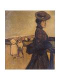 Governess, C1901-1902 Gicléetryck av Maxime Dethomas