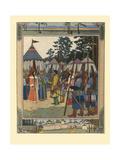 Illustration for the Fairy Tale Marya Morevna, 1901 Giclée-Druck von Ivan Yakovlevich Bilibin