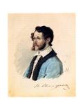 Portrait of Decembrist Pyotr Svistunov (1803-188), 1836 Giclee Print by Nikolai Alexandrovich Bestuzhev